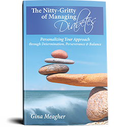 The nitty gritty of managing diabetes, gina meagher, author, book cover